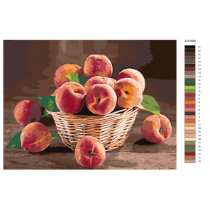 Раскладка Аромат спелых персиков Раскраска по номерам на холсте Живопись по номерам Z-Z101958