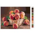 Аромат спелых персиков Раскраска по номерам на холсте Живопись по номерам