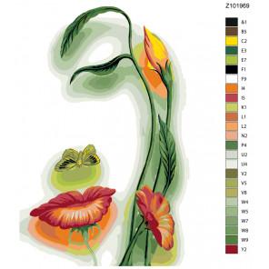 Раскладка Прекрасная природа Раскраска по номерам на холсте Живопись по номерам Z-Z101969