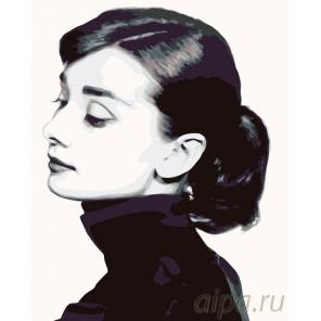 Портрет Одри Раскраска картина по номерам на холсте KTMK-52328