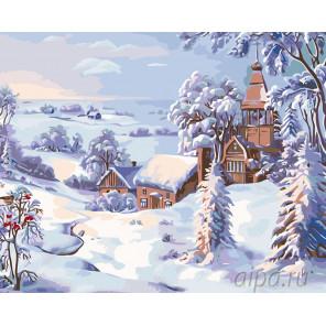 Снежное одеяло Раскраска картина по номерам на холсте KTMK-44766