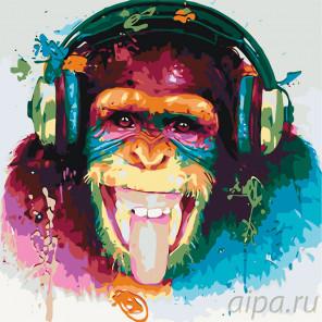 Веселая музыка Раскраска картина по номерам на холсте KTMK-63387