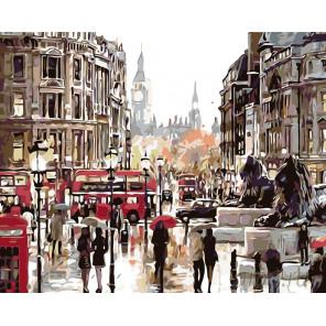 Летний дождь в Лондоне Раскраска картина по номерам на холсте KTMK-62788