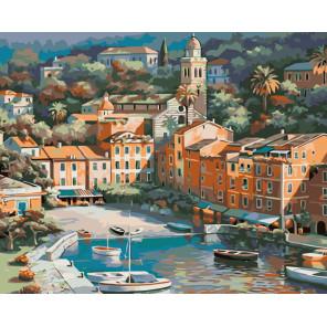 Средиземноморский городок Раскраска картина по номерам на холсте KTMK-864411