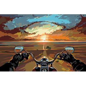 Беспечный ездок Раскраска картина по номерам на холсте Z4607