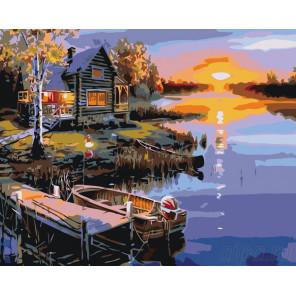 раскладка Дивный вечер Раскраска картина по номерам на холсте