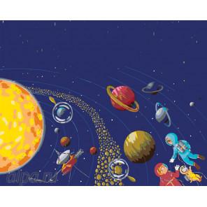 На орбите Раскраска картина по номерам на холсте Z-RA240