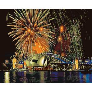 Салют в Сиднее Раскраска картина по номерам на холсте KTMK-864413