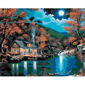 Дом на озере Раскраска картина по номерам на холсте KTMK-53570