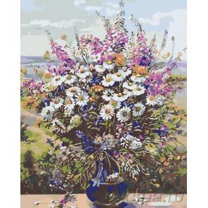 Ваза с полевыми цветами Раскраска картина по номерам на холсте KTMK-538051