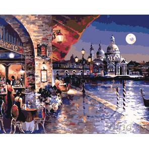Лунная Венеция Раскраска картина по номерам на холсте KTMK-34038