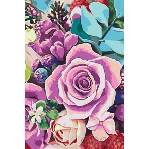Радужный букет Раскраска картина по номерам на холсте RA242