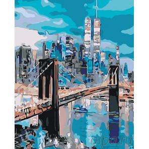 Бруклинский мост на рассвете Раскраска картина по номерам на холсте KTMK-33943-1