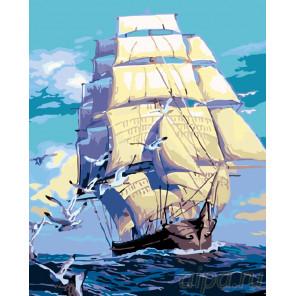 К новым берегам Раскраска картина по номерам на холсте KTMK-65162