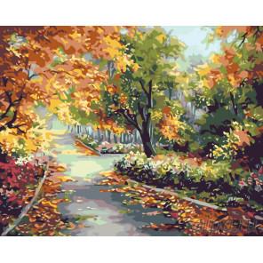 Тишина в парке Раскраска картина по номерам на холсте KTMK-47012