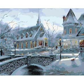 Уют зимних вечеров Раскраска картина по номерам на холсте KTMK-50061