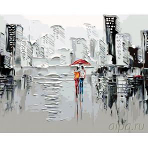 Дождь в большом городе Раскраска по номерам на холсте Живопись по номерам KTMK-46384-1