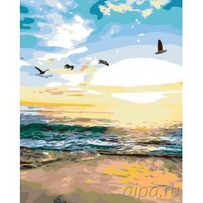 Спокойное море Раскраска по номерам на холсте Живопись по номерам KTMK-74725