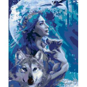 Время волка Раскраска по номерам на холсте Живопись по номерам KTMK-40434