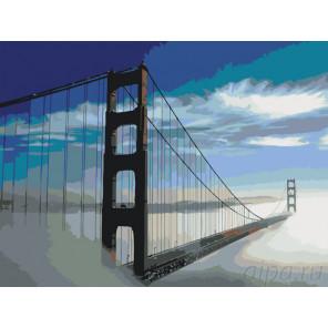 Мост в тумане Раскраска по номерам на холсте Живопись по номерам KTMK-00727