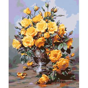 Медовые розы Раскраска по номерам на холсте Живопись по номерам KTMK-64399