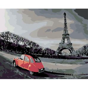 Раскладка Прогулка по Парижу Раскраска по номерам на холсте Живопись по номерам KTMK-47650