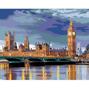 Лондонский пейзаж Раскраска по номерам на холсте Живопись по номерам KTMK-78282