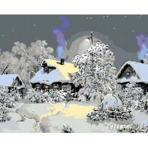 Январская ночь Раскраска по номерам на холсте Живопись по номерам KTMK-977081