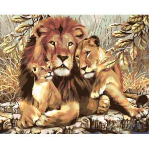 Львиное счастье Раскраска по номерам на холсте Живопись по номерам KTMK-78945