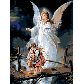 Под крылом ангела Раскраска по номерам на холсте Живопись по номерам Z-ZSPB101100166