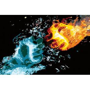 Сила стихий Раскраска картина по номерам на холсте FT06