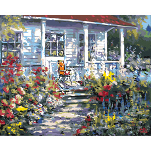 Летний дом Раскраска картина по номерам на холсте PP17