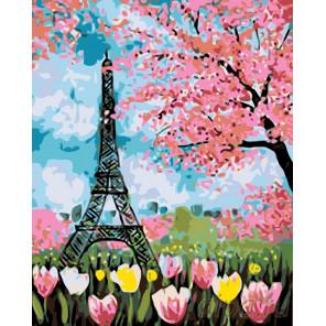 Весенние цветы Парижа Раскраска по номерам на холсте Живопись по номерам RO85