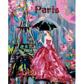 Парижанка Раскраска по номерам на холсте Живопись по номерам RO86