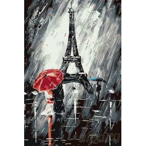 Непогода в Париже Раскраска по номерам на холсте Живопись по номерам RO74