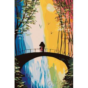 Свидание на мосту Раскраска по номерам на холсте Живопись по номерам RO75
