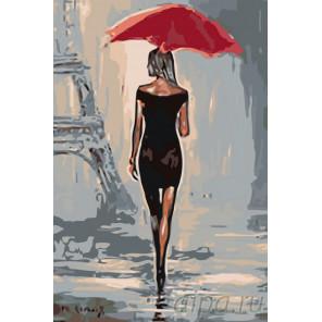 Утонченная парижанка Раскраска по номерам на холсте Живопись по номерам RO77