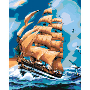 Бегущий по волнам Раскраска картина по номерам на холсте KTMK-751261