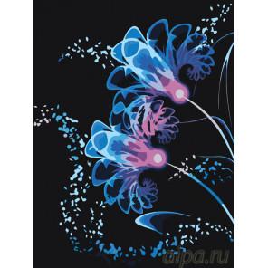 Неоновые цветы Раскраска картина по номерам на холсте F65