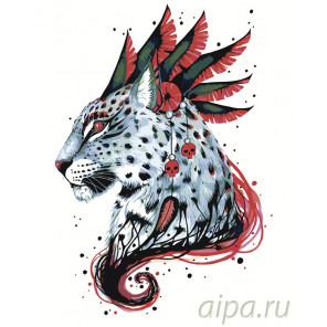 Тотем леопарда Раскраска картина по номерам на холсте PA130