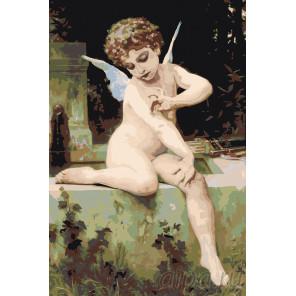 Античный ангелок Раскраска картина по номерам на холсте RA233