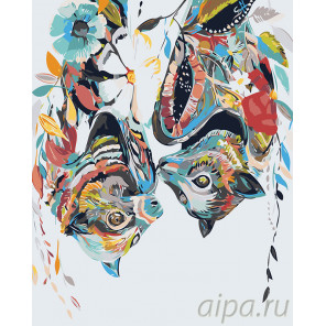 раскладка Летучие мыши Раскраска картина по номерам на холсте