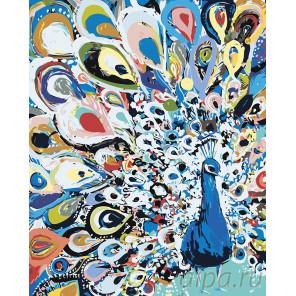 Красочный павлин Раскраска картина по номерам на холсте A493