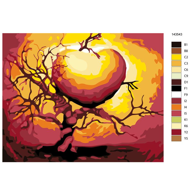 KTMK-143543-100x125 Дерево любви Раскраска по номерам на ...