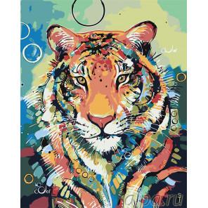 Тигр Раскраска картина по номерам на холсте A504
