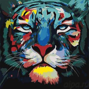 Боевая раскраска Раскраска картина по номерам на холсте A505