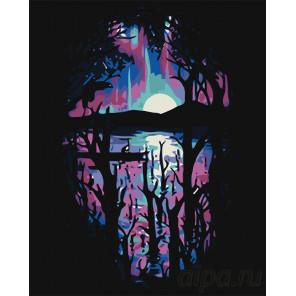 Раскладка Фиолетовый закат Раскраска картина по номерам на холсте RA283