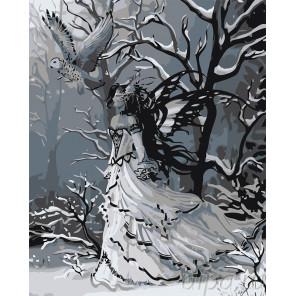 Полярная сова Раскраска картина по номерам на холсте RA301