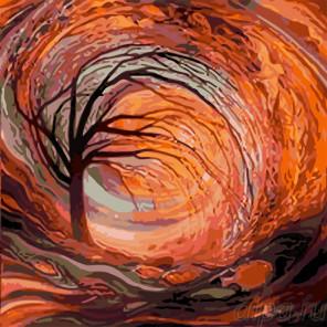 Поздней осенью Раскраска картина по номерам на холсте KTMK-54156