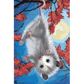 Раскладка Веселый мышонок Раскраска картина по номерам на холсте A596